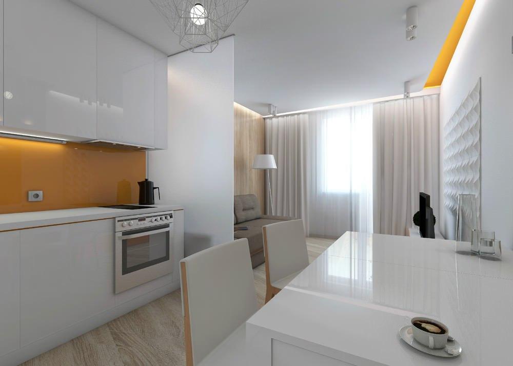 Дизайн студий 20 кв м с окном